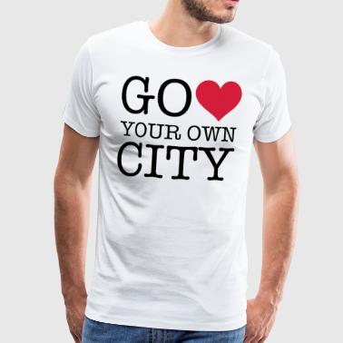 GO HEART YOUR OWN CITY - Männer Premium T-Shirt