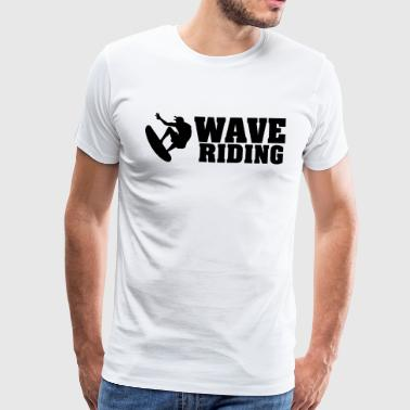 Wave riding - Premium-T-shirt herr