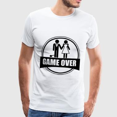 Game over,  despedida, de, soltero - Camiseta premium hombre
