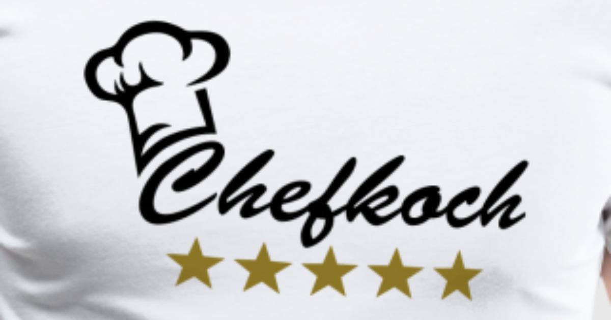 Koch Chefkoch 5 Sterne Geschenk Geburtstag Chef von basic style ...