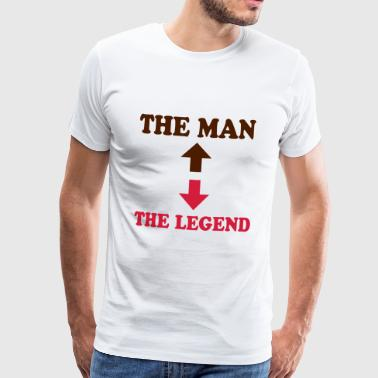 The man - the legend - Premium-T-shirt herr