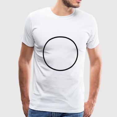 Round Circle Runde Cercle Rond Kreis - Custom it ! - Men's Premium T-Shirt