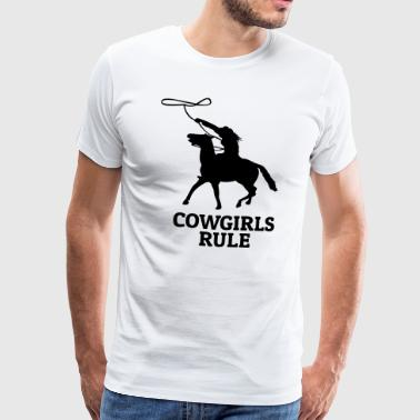 Cowgirls rule - Mannen Premium T-shirt
