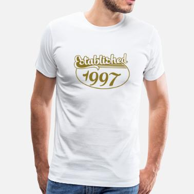 1997 Birthday-Shirt - Geburtstag - Established 1997 (de) - Männer Premium T-Shirt
