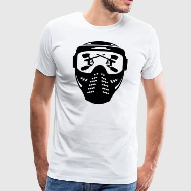 Paintball mask with gun - Men's Premium T-Shirt