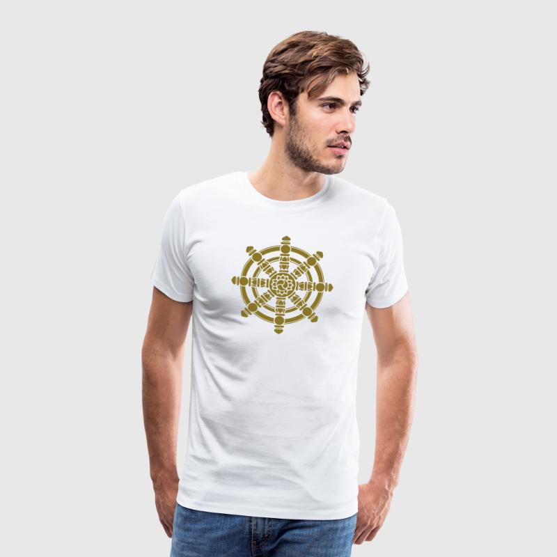 Dharma Wheel, lucky symbol, Buddhism, Chakra - Men's Premium T-Shirt