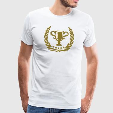 Medaille Lorbeerkranz Kranz Trophy Laurel Wreath Star Best Team Sports Winner - Männer Premium T-Shirt