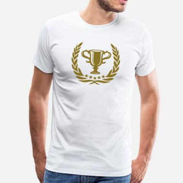 Award Trophy Laurel Wreath Star Best Team Sports Winner - Men's Premium T-Shirt