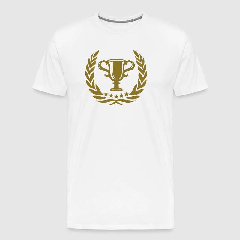 Trophy Laurel Wreath Star Best Team Sports Winner - Men's Premium T-Shirt