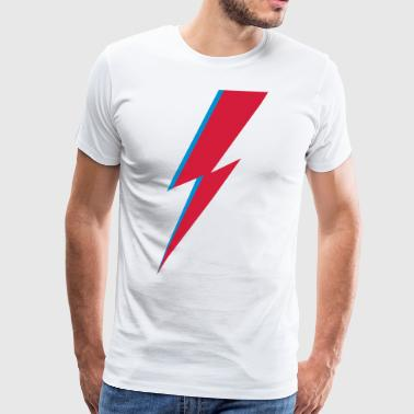 flash, music, rebel, Bowie, hero, space, blackstar - Miesten premium t-paita