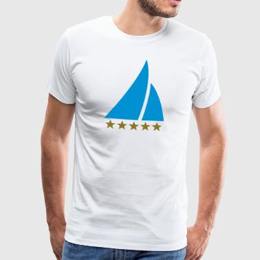 Sailing Five Star, Sailor, Boat, Surfing, Sea, - Miesten premium t-paita