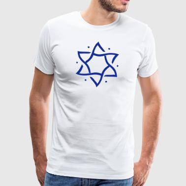 Star of David, hexagram, ✡ Israel, Judaism, Symbol - Men's Premium T-Shirt