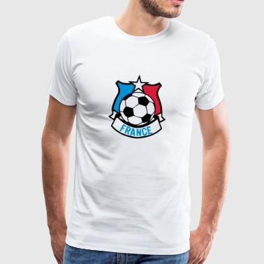 france foot supporter ecusson7 fanion ba - T-shirt Premium Homme