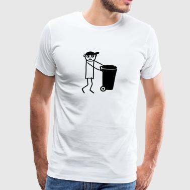Dustman - garbage disposal - Men's Premium T-Shirt