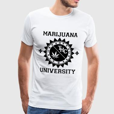 Marijuana University - T-shirt Premium Homme