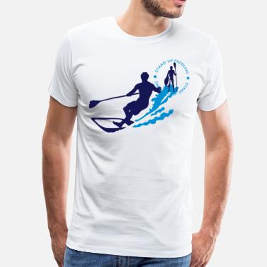 Paddle stand up paddling - Men's Premium T-Shirt