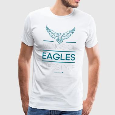 Wings Eagles Lifestyle Jt4Christ Christian T-shirt - Herre premium T-shirt