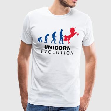 Darwin Evolution Unicorn - Herre premium T-shirt