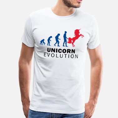 Evolution Horses Evolution Unicorn - Men's Premium T-Shirt