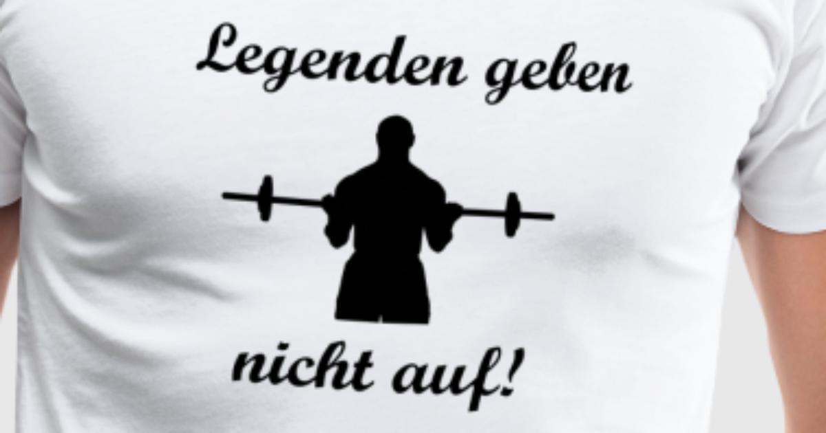 Fitness Legenden geben nicht auf! von Latschenberger | Spreadshirt