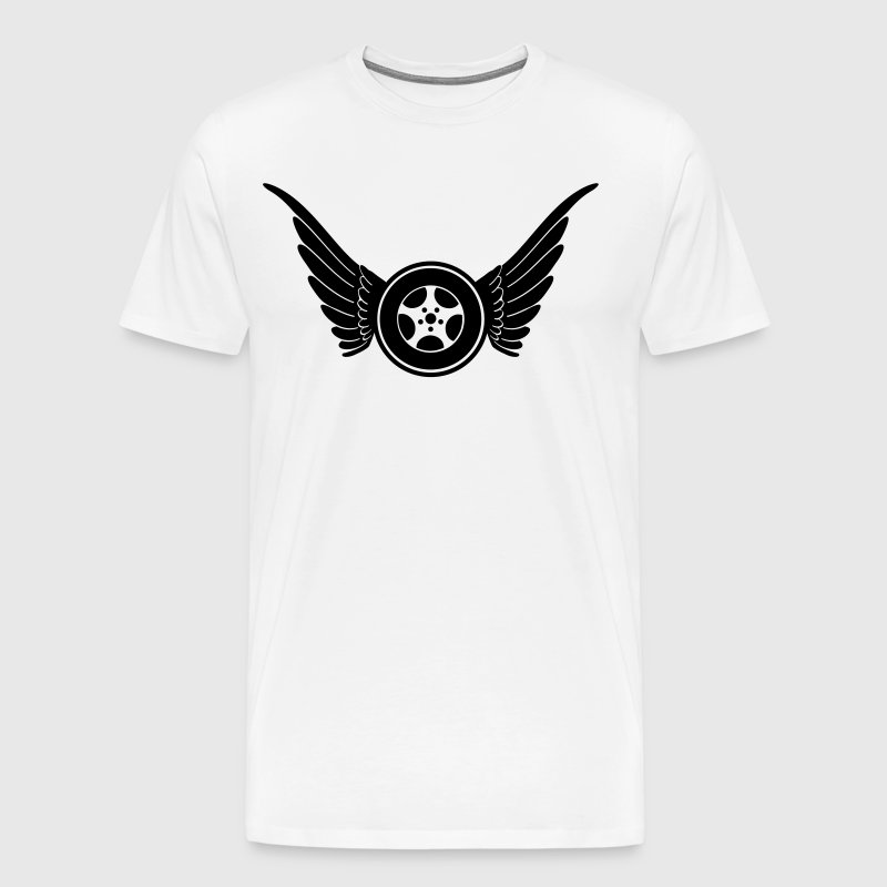 Wheel with wings - Men's Premium T-Shirt