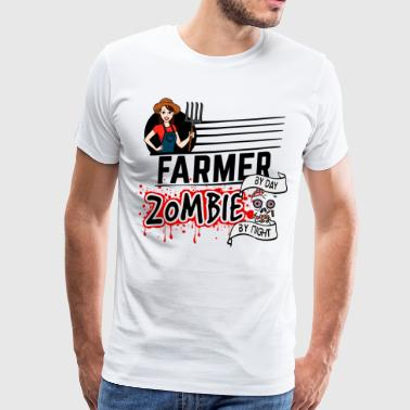 Female Farmer - Zombie by night - Männer Premium T-Shirt