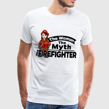 Female Firefighter - The Woman The Myth - Männer Premium T-Shirt