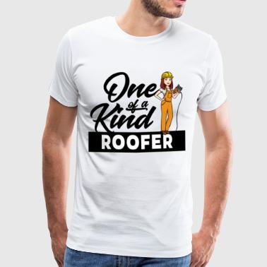 Female Roofer - One of a kind - Men's Premium T-Shirt