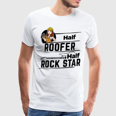 Female Roofer - Half Rock Star - Men's Premium T-Shirt