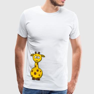 Giraffe Cartoon - Männer Premium T-Shirt