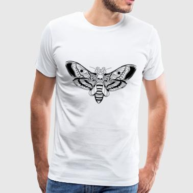 Death-Head-Moth / Tattoo Style - Männer Premium T-Shirt