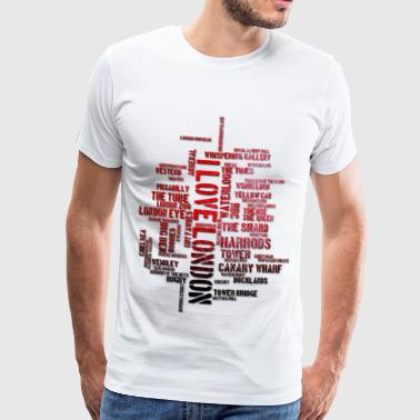 I Love London - Männer Premium T-Shirt