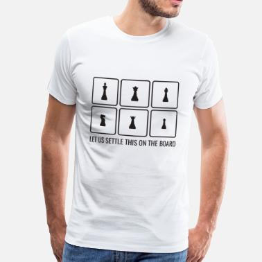 Chess Board Chess board player gift figures game idea - Men's Premium T-Shirt