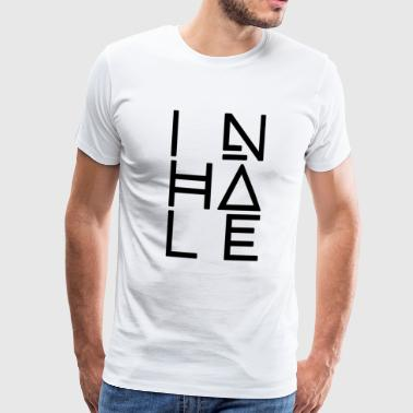 La respiration, l'inhalation - T-shirt Premium Homme