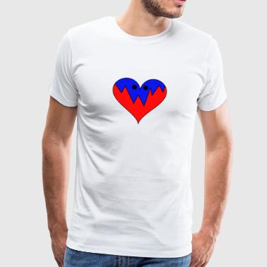 Heart Eyes Heart with eyes - Men's Premium T-Shirt