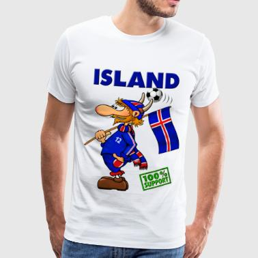 Fan Island - Supporter of Island - Männer Premium T-Shirt