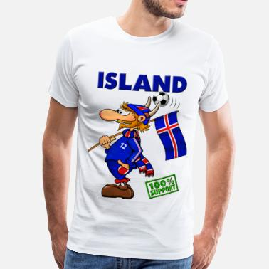 Island Fan Island - Supporter of Island - Männer Premium T-Shirt