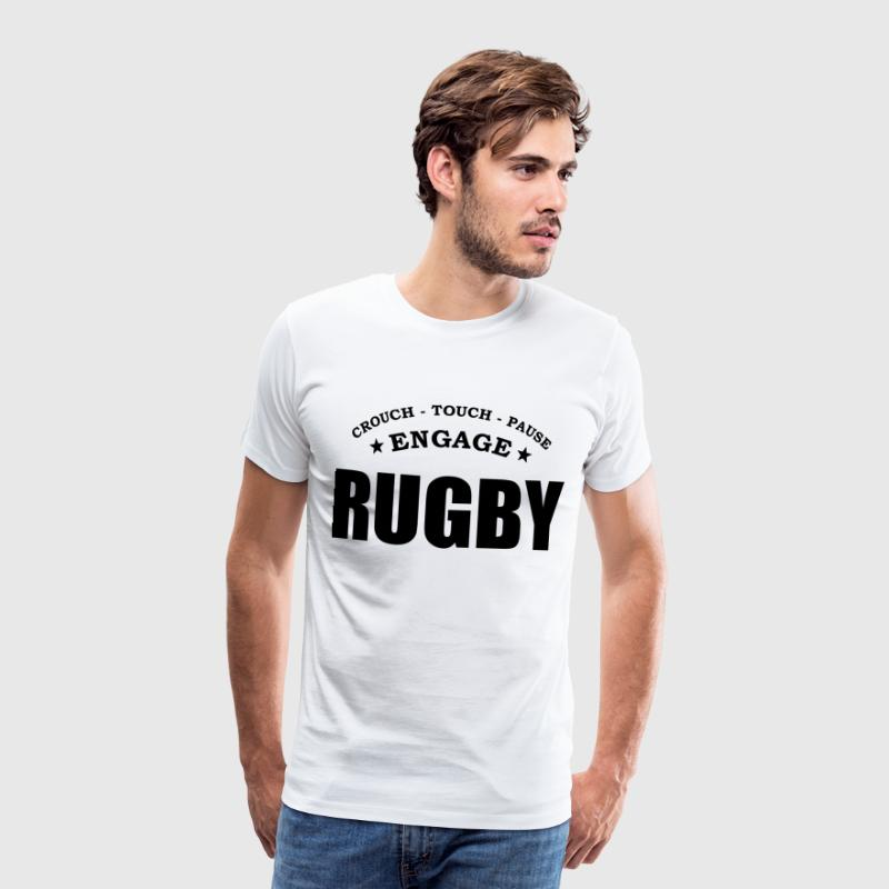 rugby scrum - Men's Premium T-Shirt