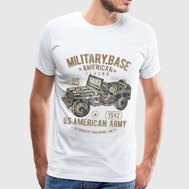 MILITARY BASE - US Army Jeep Shirt Motiv - Männer Premium T-Shirt