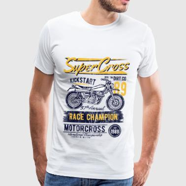 SUPERCROSS - Motorcycle Fiets en Motorcross Shirt - Mannen Premium T-shirt