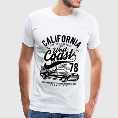 CALIFORNIA WEST COAST - Estate & Surf Shirt Design - Maglietta Premium da uomo