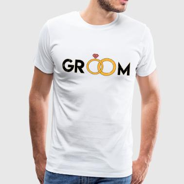 Groom groom - Men's Premium T-Shirt
