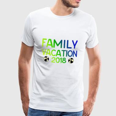 Familieferie gave Vacation 2018 - Herre premium T-shirt
