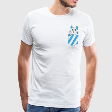 Funny Cats Camiseta Pocket Pocket Shirts Cat - Camiseta premium hombre