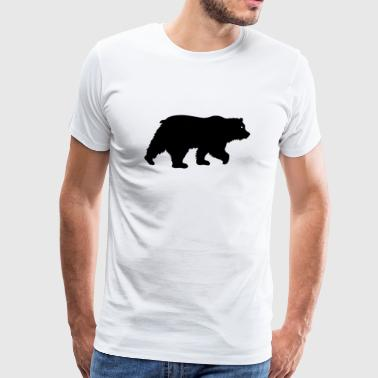 Black Bear Grizzly Bear svart - Premium T-skjorte for menn
