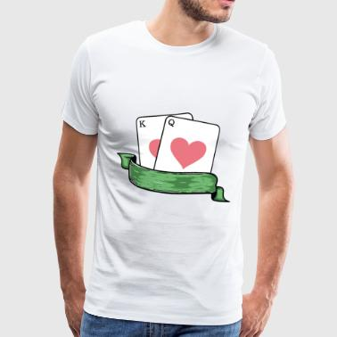 Poker All In King Queen WSOP Flop Bluff Cards - Camiseta premium hombre