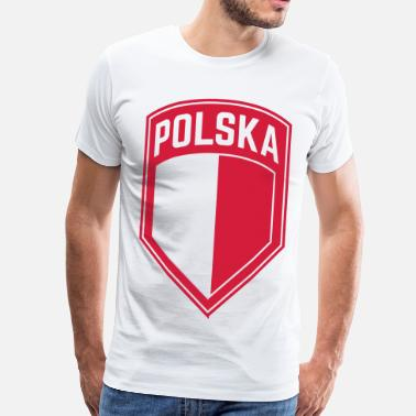 Poland Poland Coat of Arms Polska shield badge gift - Men's Premium T-Shirt