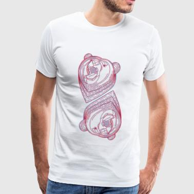 mirrored bears, bear family, bears gang - Men's Premium T-Shirt