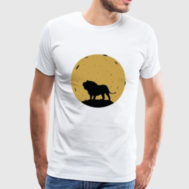 Lion Moon Animal Zoo Afrika Space Safari - Herre premium T-shirt