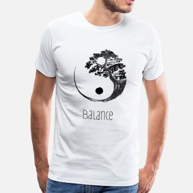 Bonsai Tree Yin Yang Bonsai Balance Tree Japan Buddha Gift - Men's Premium T-Shirt